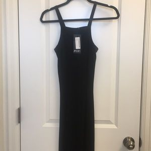 Nasty Gal Black Tank Midi Dress